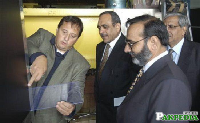 Mr Parvez Butt at the visit of CERN