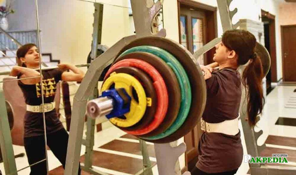 Rabia won a gold medal at the Ralph Cashman Weightlifting Championship