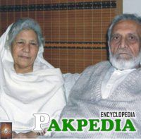 With her husband Ashfaq Ahmad