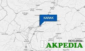 Map of Karak in Pakistan