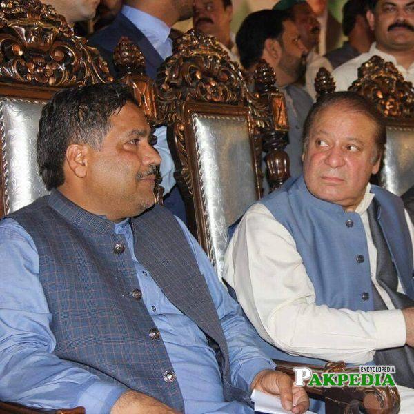 Muhammad Arshad Malik with Nawaz Sharif