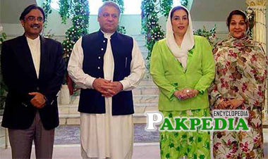 Asif Ali Zardari, Nawaz Sharif, Benazir Bhutto and Mrs. Nawaz Sharif