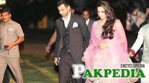 Personal photo of Shoaib Malik with his wife