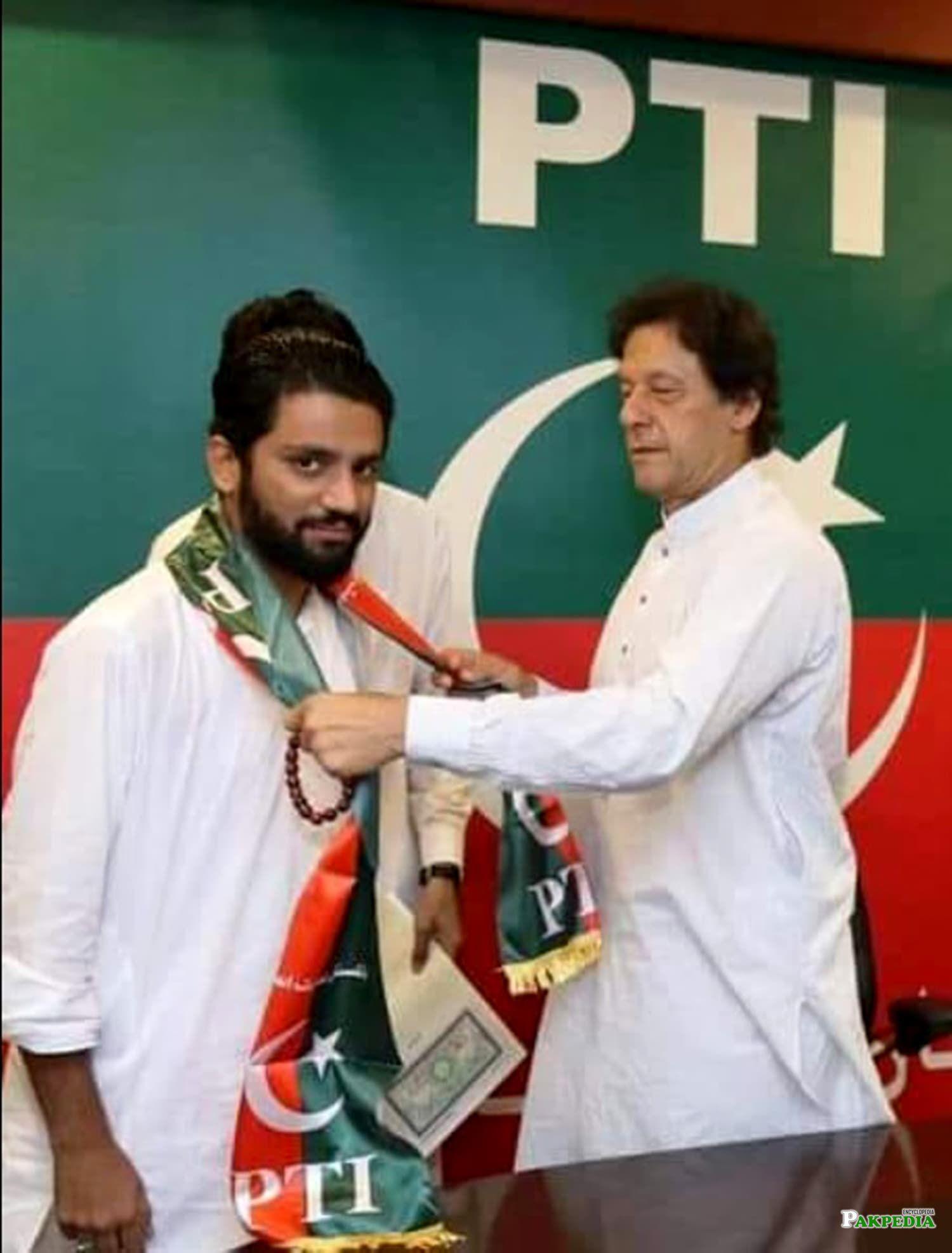 Imran khan welcome Salman naeem after joining PTI