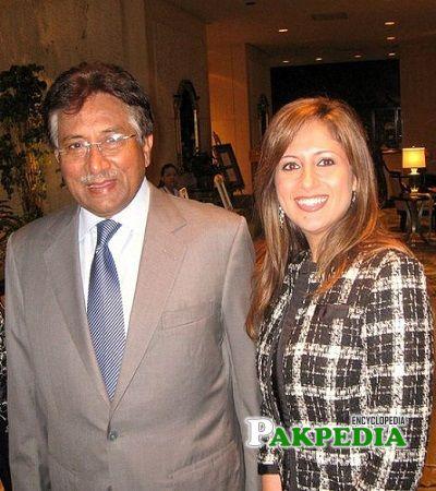Mariyah Moten with Pervaiz Musharaf