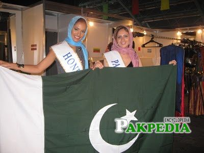 Mariyah representing Pakistan in different beauty pageants