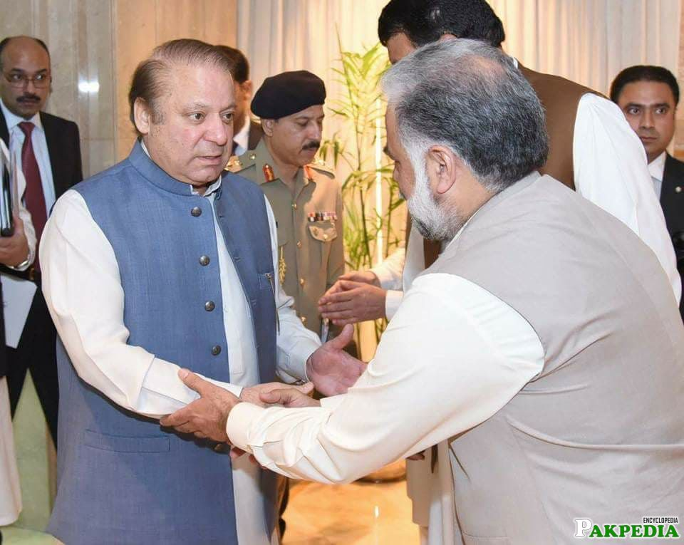 Murtaza Javed Abbasi With Nawaz Sharif