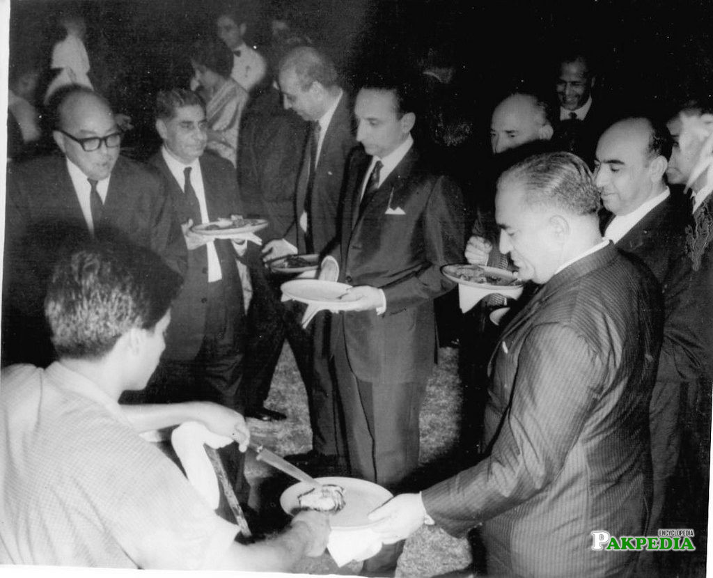 A Party picture of Sahabzada Yaqub Khan