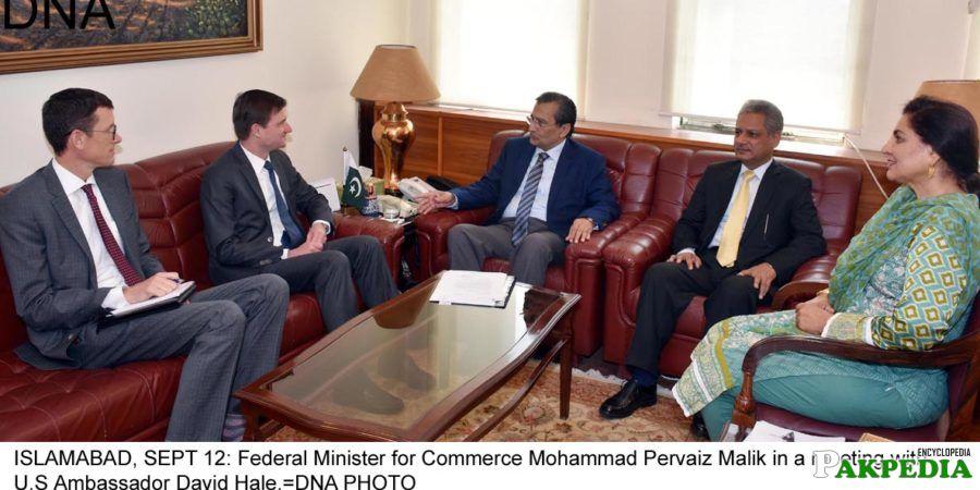 Muhammad Pervaiz Malik sitted in center