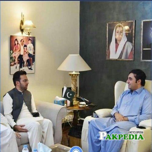 Rais Nabeel Ahmad with Bilawal Zardari