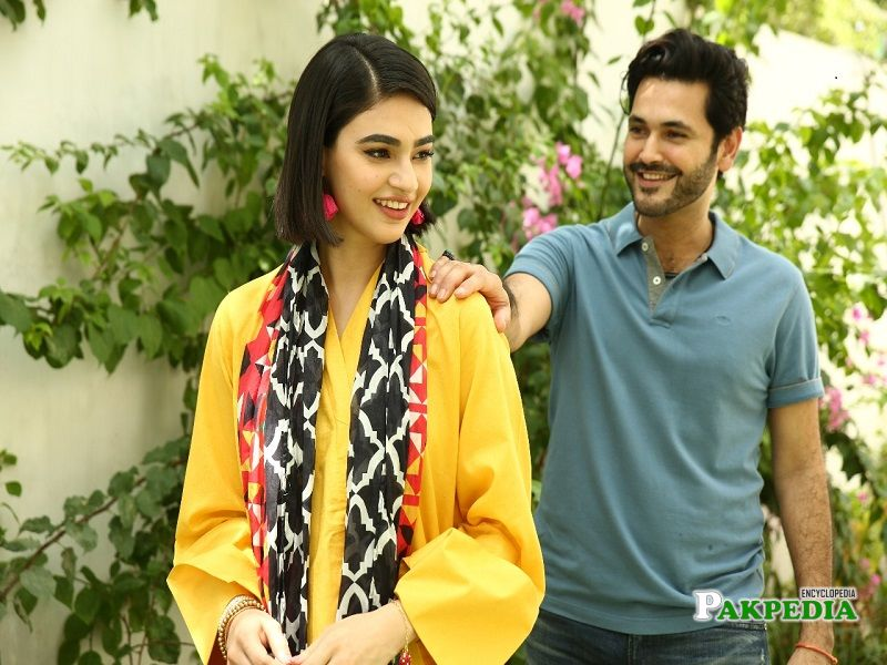 Fahad Mirza on the sets of 'Beti'