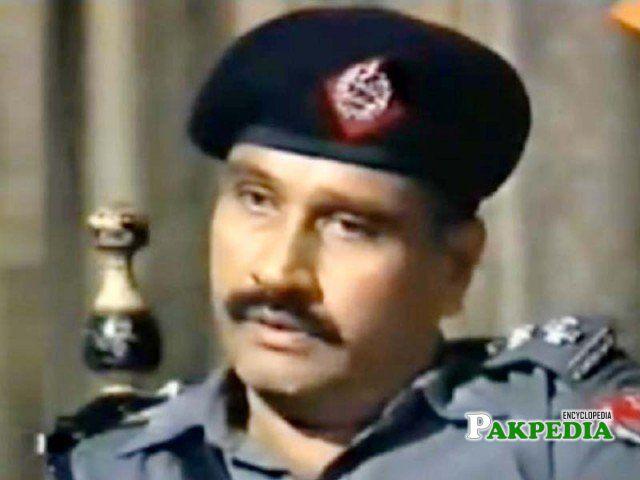Ghayyur Akhtar in a police role