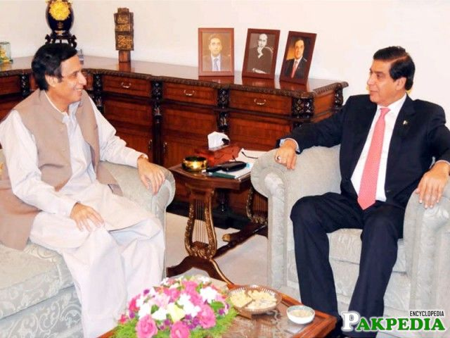 Chaudhry Pervaiz Elahi with Raja Pervaiz Ashraf