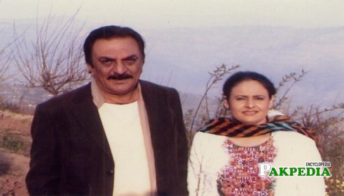 Abid Ali with his second wife Rabia Noreen
