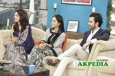 Junaid Khan with Sanam Chaudhry in a morning transmission