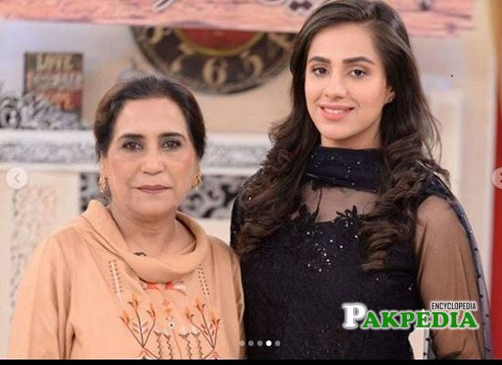 Maham Amir with her mother in law Parveen Akbar