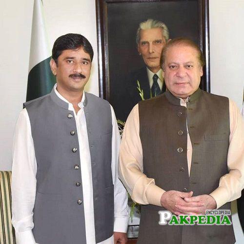 Azhar Qayyum with Mian Nawaz Sharif