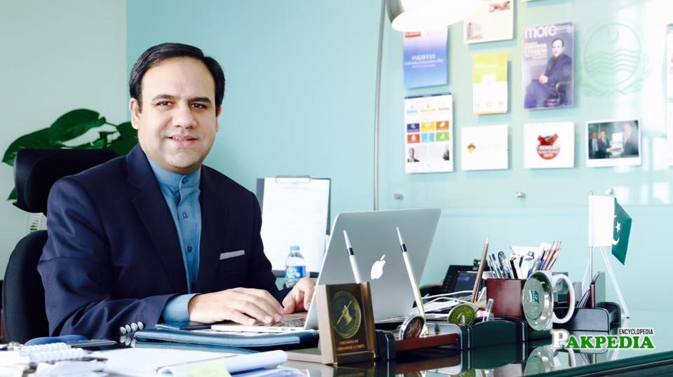 Dr umar in his office