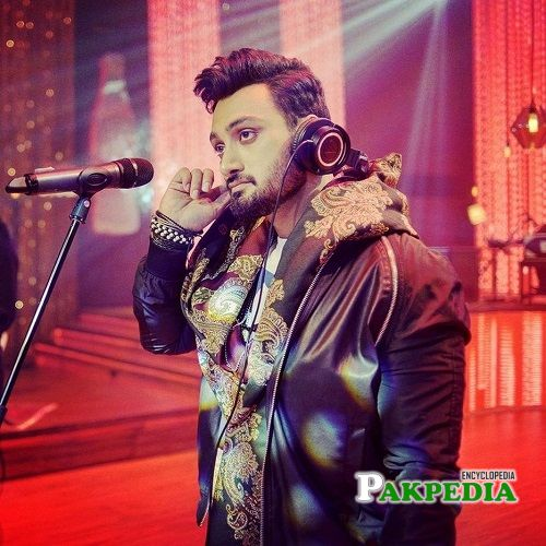 Umair on sets of Coke Studio
