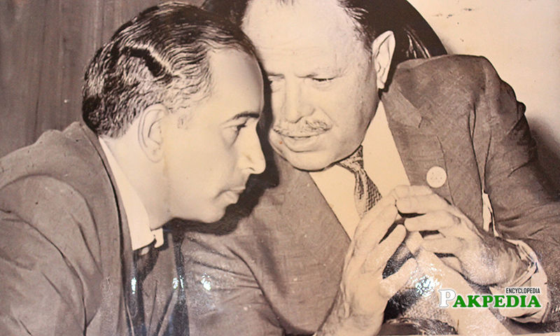 With Zulfiqar Ali bhutto
