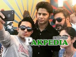 Haris waheed with the cast of 'Ghughi'