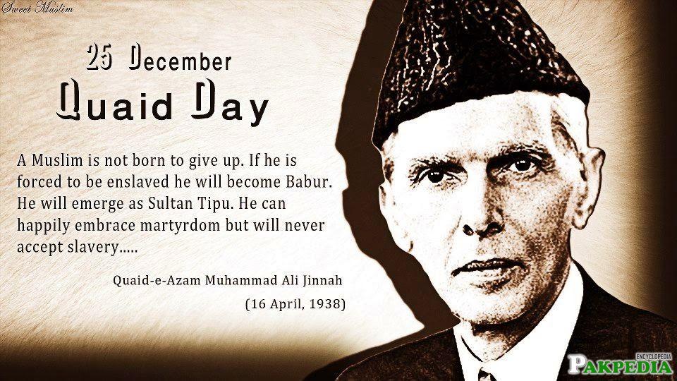 25 December - Quaid Day