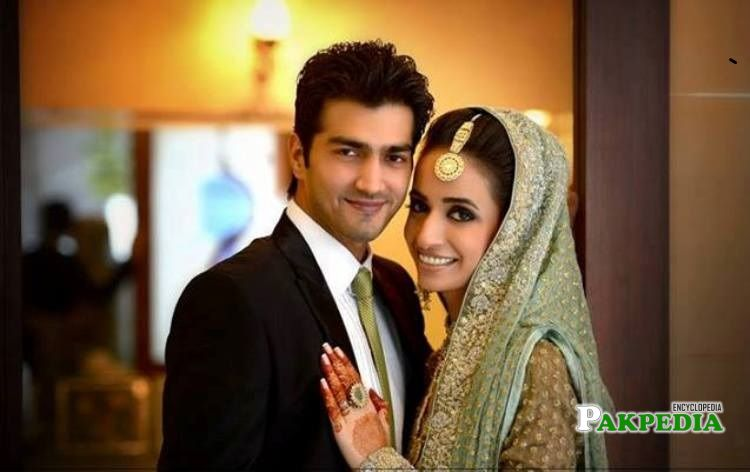Shehzad with his wife Hina Mir
