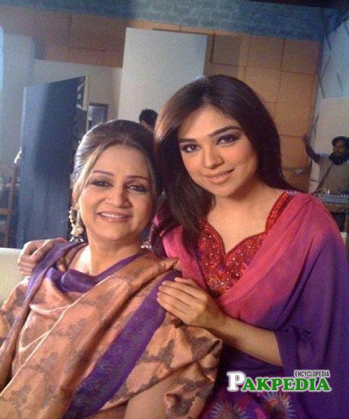 Natasha Ali with Bushra Ansari