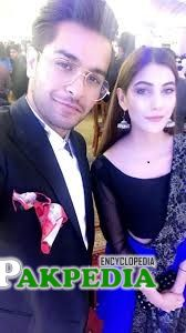 Nazish with Asim Azhar at an event