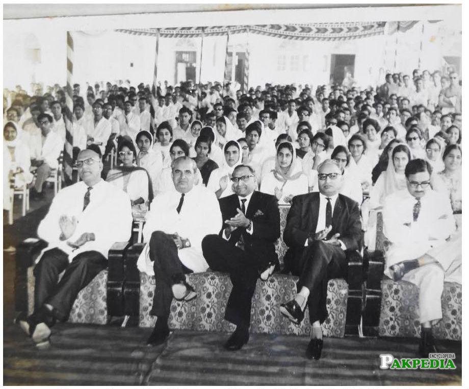 Abdul Jamil Khan in auditorium