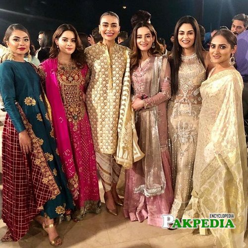 Kinza Patel with actresses of Showbiz