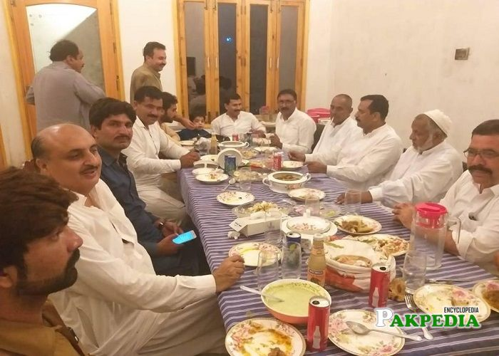 Syed Javed Hasnain Shah with his party members