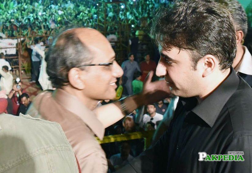 With Bilawal Bhutto Zardari in a Jalsaa