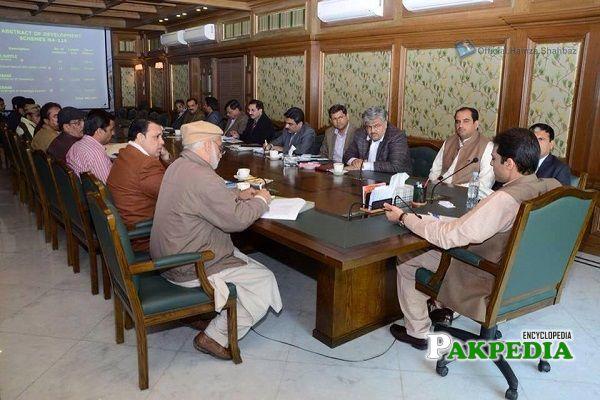 Kazim Ali Pirzada at office of Hamza Shahbaz