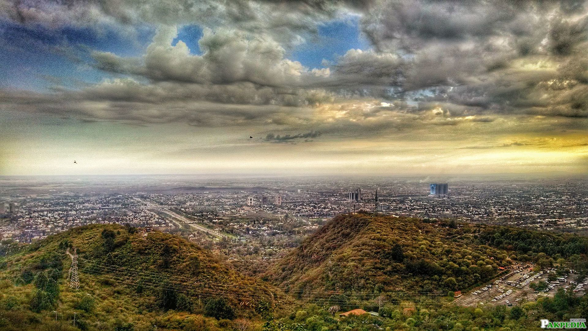 Islamabad City View from Margalla Hills