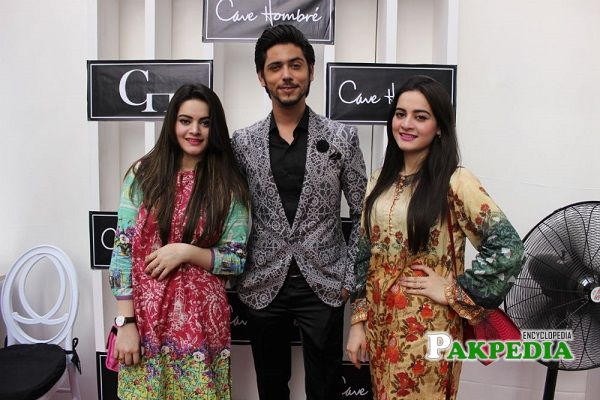 Ahmed with Aiman and Minal Khan