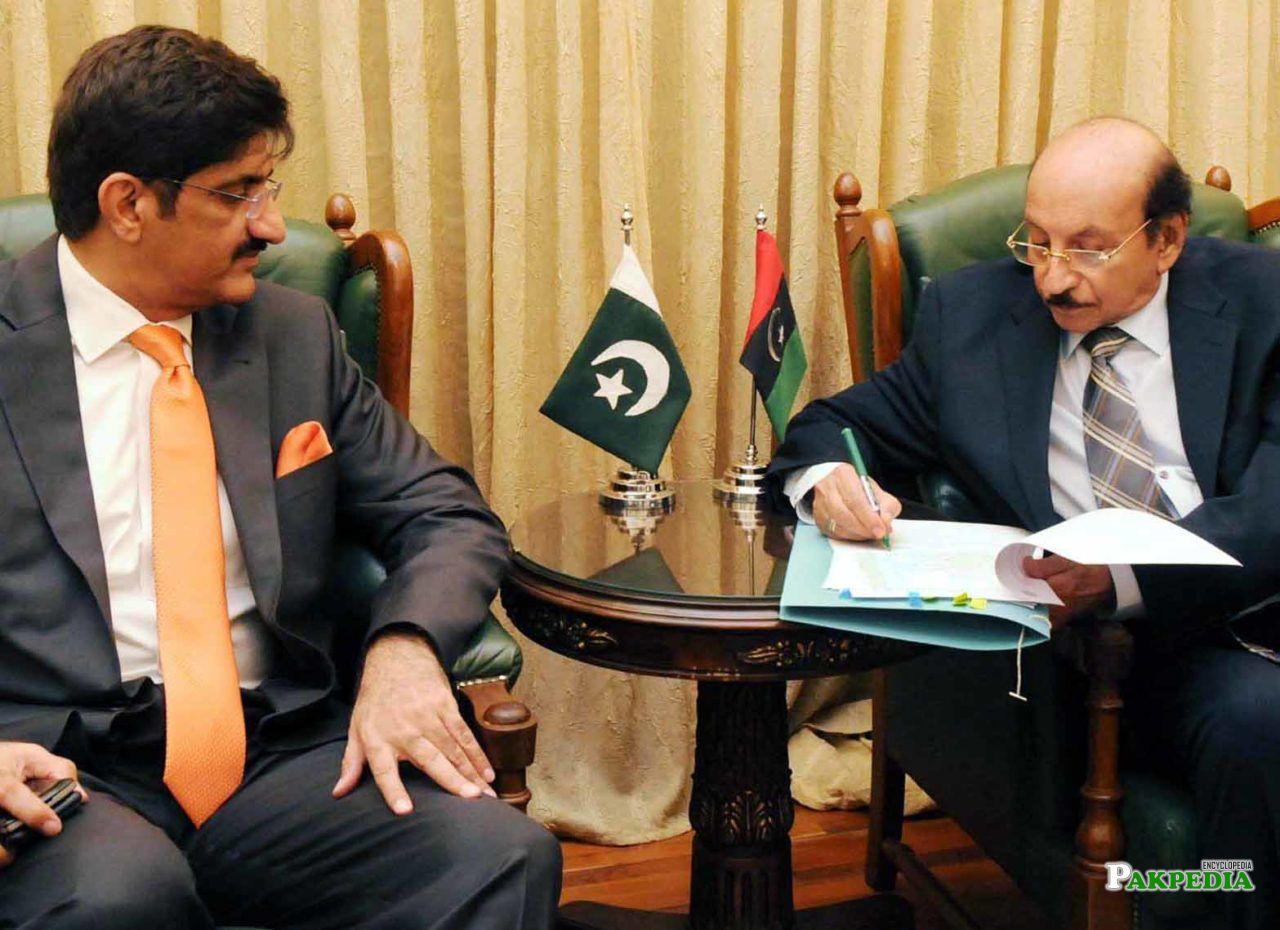 With Murad Ali Shah
