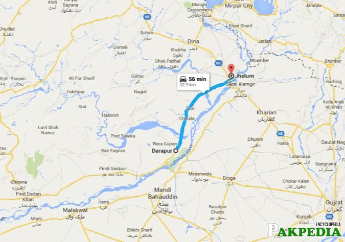 Jhelum Map