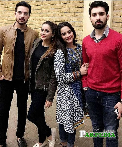Fatima with Aiman Khan and Muneeb Butt