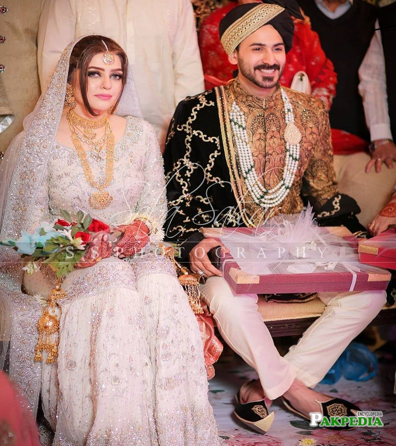 Shan Baig with his wife
