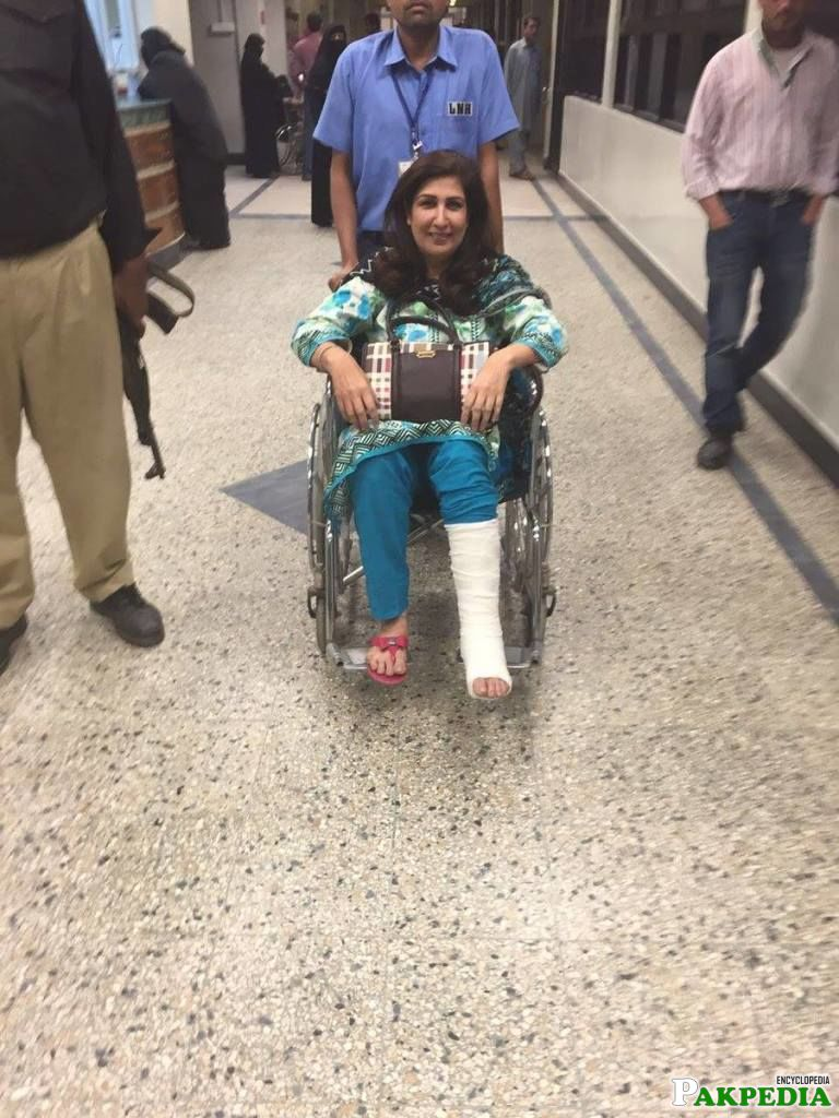 Injury Shehla Raza