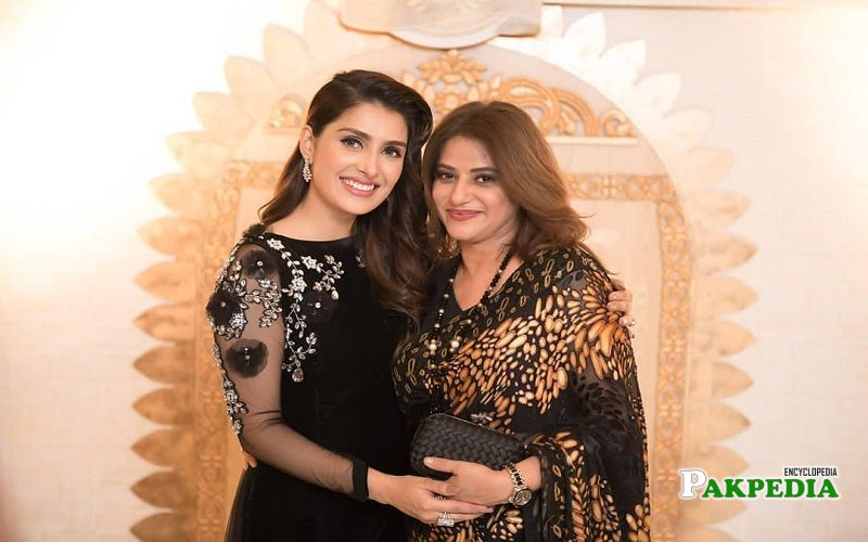 Mariam with Ayeza Khan at her son's birthday