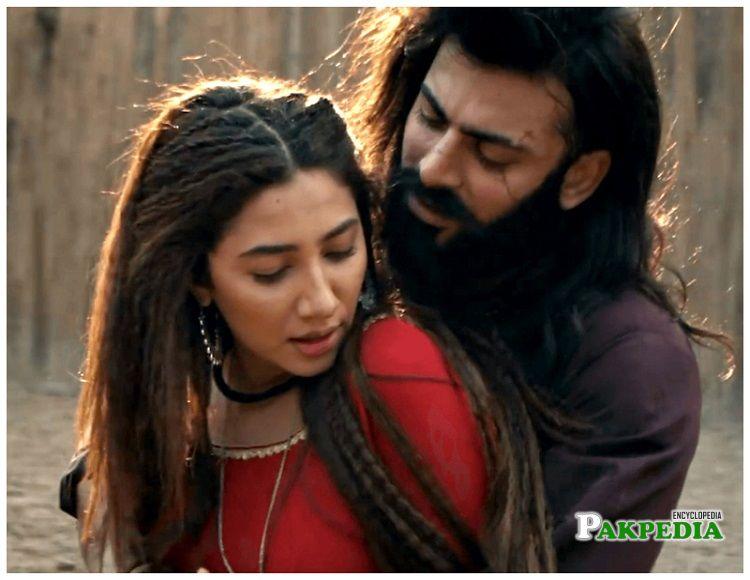 Mahira Khan and Fawad Khan on sets of Maula Jatt