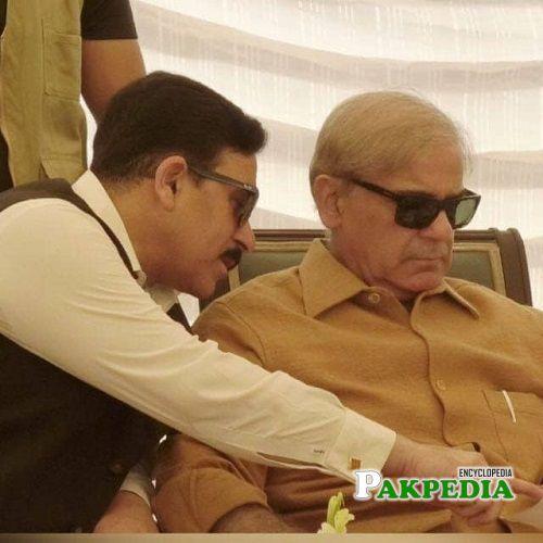Khawaja Muhammad Waseem with Shahbaz Sharif