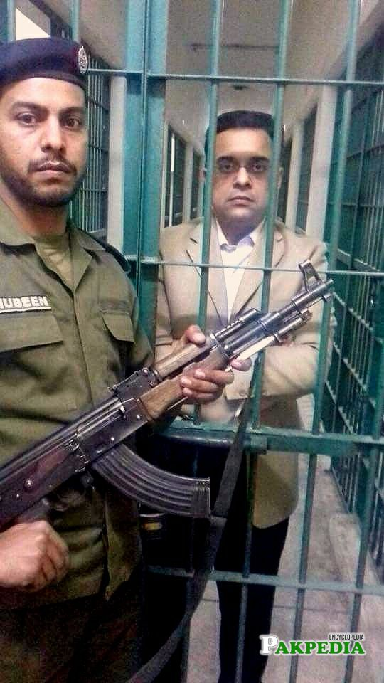 Ahad Cheema in jail