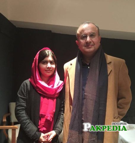 with Malala yousafzai