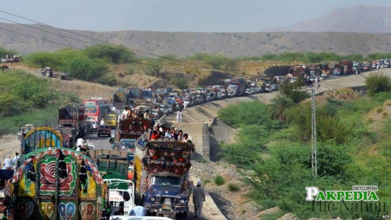 A Big truck line in North Waziristan