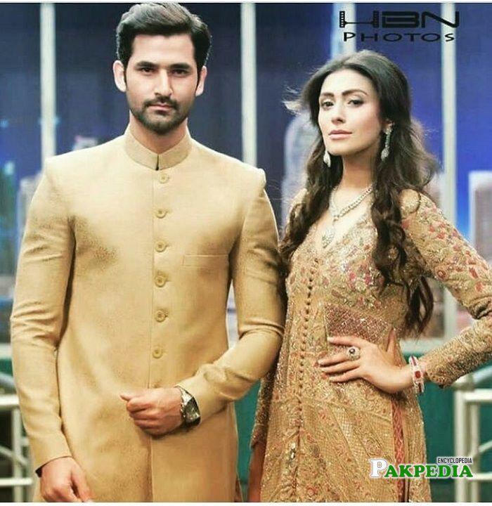 Zain baig with Sharmeen Ali during eid show