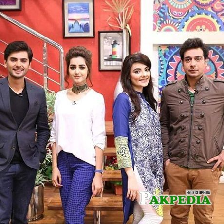 Yasir Shoro on the sets of Salaam Zindagi