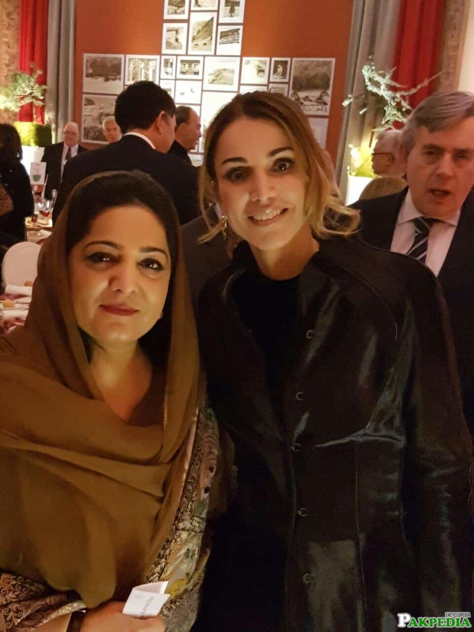 With Queen Rania